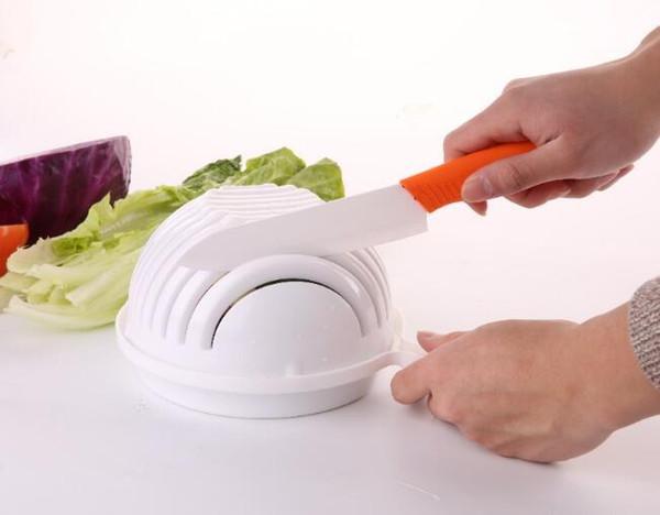 Salad Cutter Bowl Easy Salad Fruit Vegetable Washer And Cutter Salad Bowl Cutter Strainer Retail box