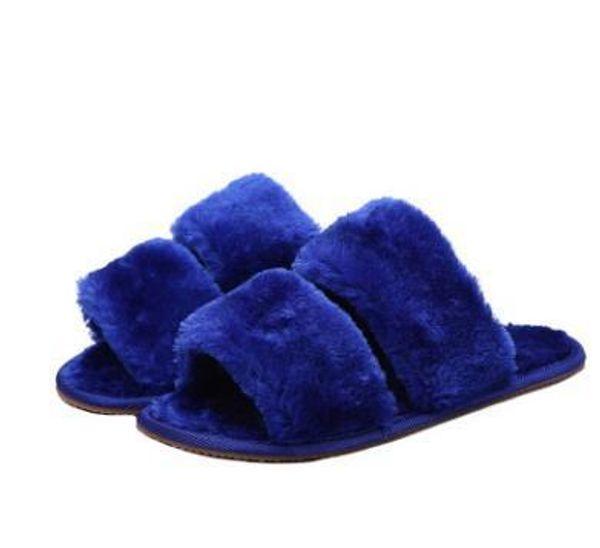 2017 Women Fur Slides Flip Flops Sandals Plush Warm Spring Summer Home Slippers Casual Shoes Silk bow Slides Woman Flats