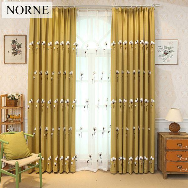 Großhandel Norne Moderne Bestickte Fenster Europäischen Landhausstil Vorhang Vorhänge Für Schlafzimmer Wohnzimmer Küche Tür Jalousien Gardinen Von