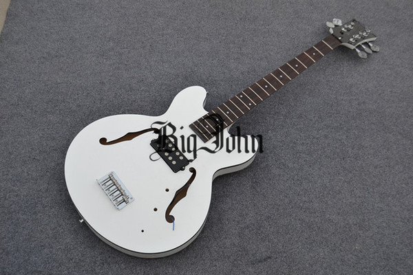 free shipping new arrived Big John 5-strings hollow electric bass guitar in white made in China F-1881