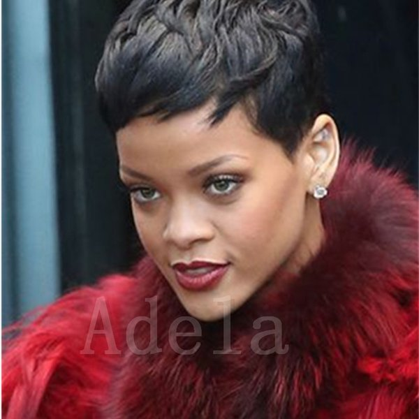 Short Black Cut human hair wigs for Black Women Freely Making Texture Pixie Cut wigs Soft And Pretty Wigs