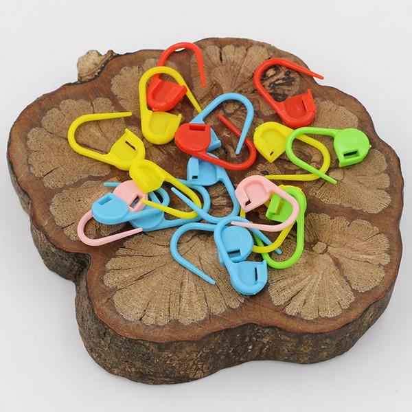 Pacchetto all'ingrosso! 1000 pezzi Mix Color Knitting Stitch Counter Crochet Chiusura a punto di punti Stitch Needle Clip (Colore Ship a caso)