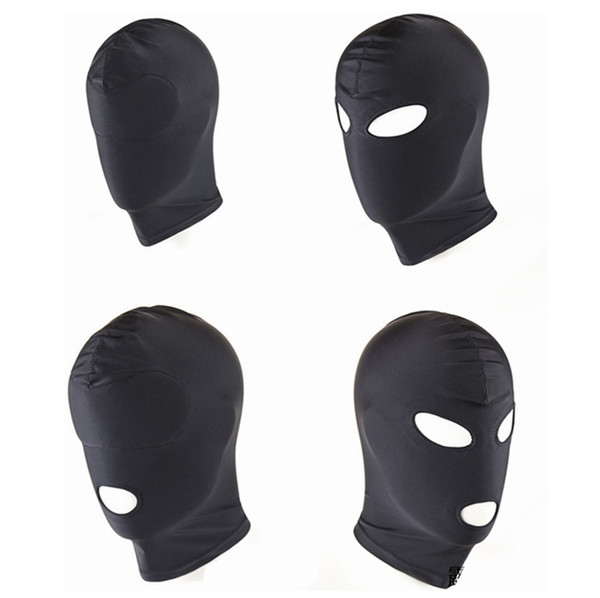 best selling New Arrival Adult games Fetish Hood Mask BDSM Bondage Black Spandex Mask Sex Toys For Couples 4 Specifications To Choose