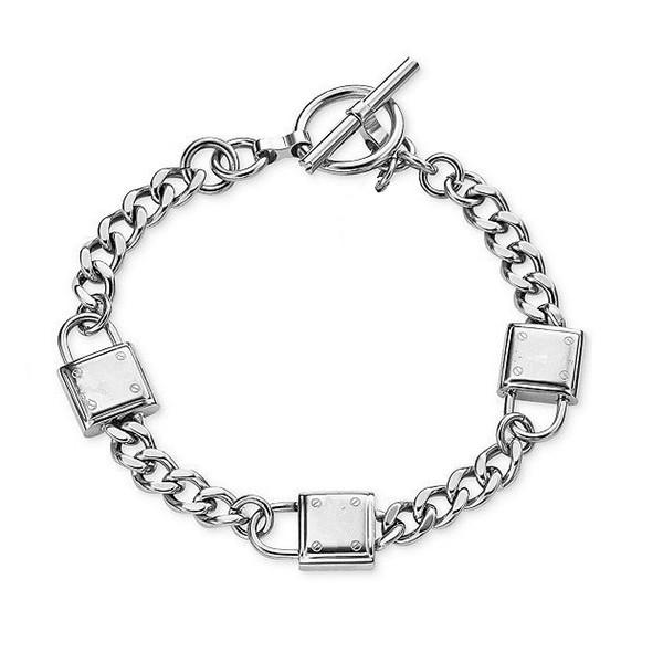 New York Fashion Brand Hohe Qualität 3 Vorhängeschloss Charme Armbänder Marke Schmuck für Männer Frauen Silber / Gold Freies Verschiffen