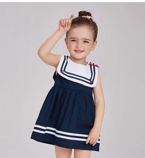 Military Summer Cute Baby Girl Dresses Kids Girls Striped Princess Sleeveless Vest Dress Children Summer Clothing Girls tutu Dress