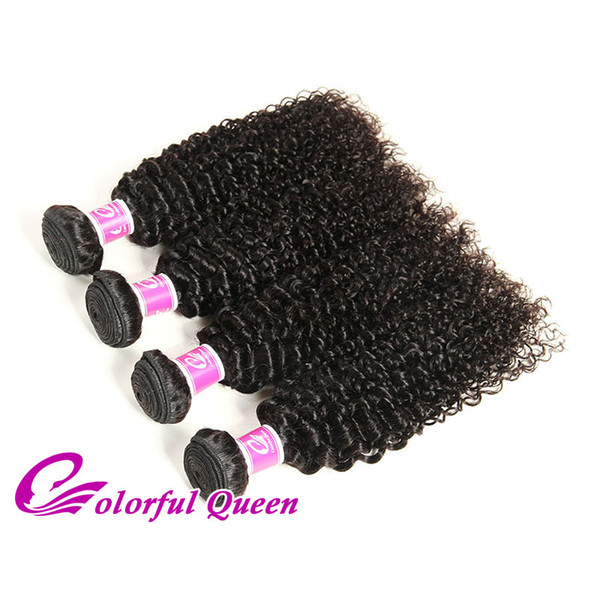 Colorful Queen Peruvian Virgin Afro Kinky Curly Hair Bundles 4 Pcs Unprocessed Human Hair Weave Weft Street Hair Extensions For Black Women