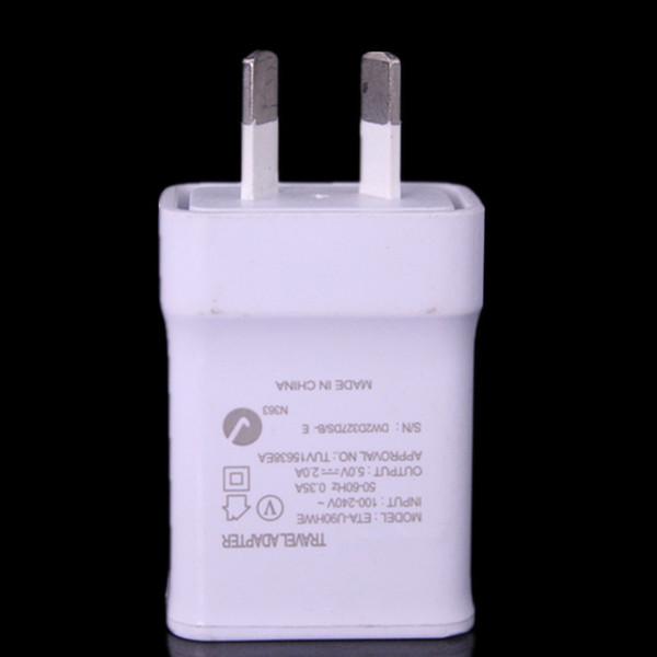 50 stücke Au Neuseeland Hohe qualität 5 V 2A AU Stecker USB AC Power wand ladegerät für Samsung Galaxy Note 2 3 4 N7100 S5 S4 S6 S7