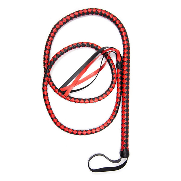 1.9M Leather Horse Whip Sex Toys for Couple Adult Game Sex Slave Bdsm Flogger Flirt Erotic Toy Sexy Bondage Torture Tools