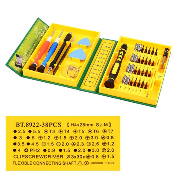 38 in 1 Precision Repair Tools Kit multipurpose Precision Opening Repair Phone Tools Set for Cell Phone iPhone 4,4s, 5,5s,6 PSP
