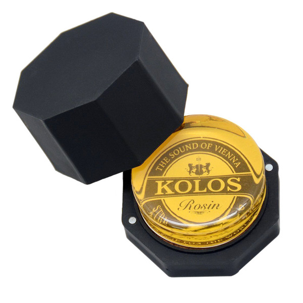 High Quality Natural Round Rosin Low Dust Rosin For Violin Cello Viola Bows - Yellow
