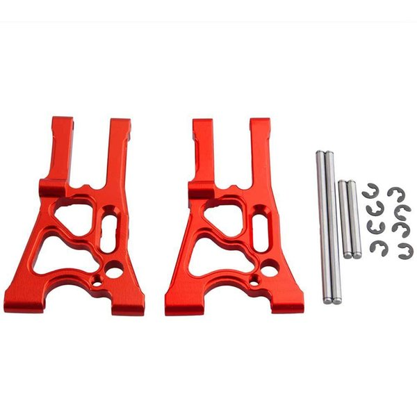 RC HPI 107899 Red Alum Front Lower Suspension Arm & Pin L R For WR8 Flux