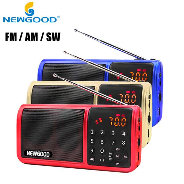 Wholesale-Mini Fm Pocket Radio 18650 Rechargeable Tf Usb Digital AM FM SW Full Band Radio Portable Mp3 Speaker Usb Receivers Loudspeakers