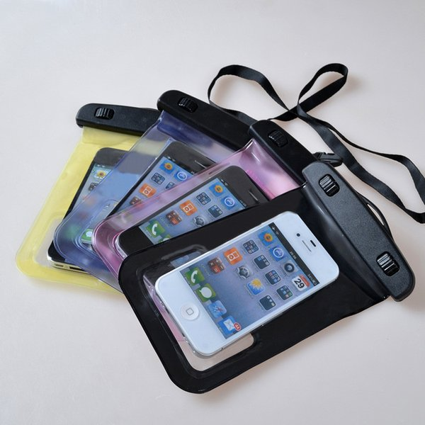 100% Waterproof Bag for Iphone 7 7 plus Samsung mobile phones waterproof dry 6plus cell phone neck pouch bags with Lanyard