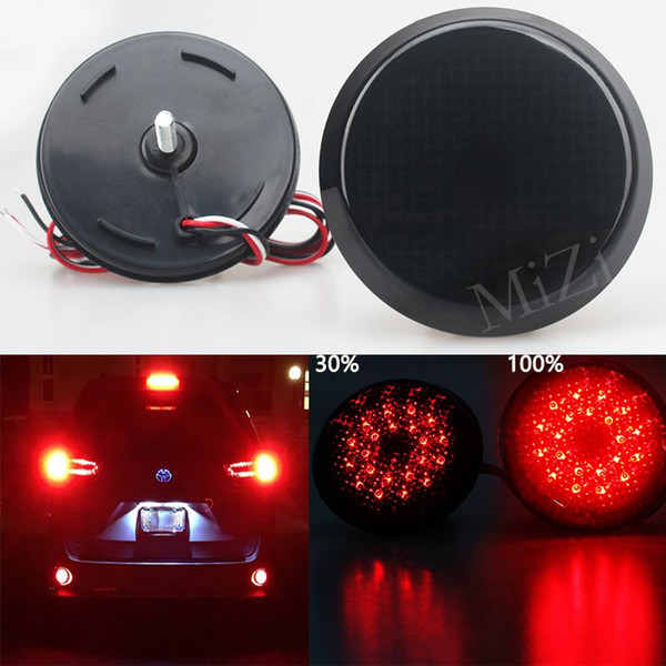 top popular High Quality Black Smoked LED Rear Bumper Reflector Light Lamp Set For Scion xB iQ Toyota Sienna Corolla Nissan Qashqai 2019