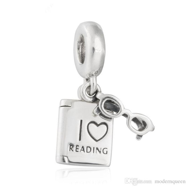 Love Reading book charms beads authentic S925 sterling silver beads fits pandora Jewelry bracelets free shipping CH621