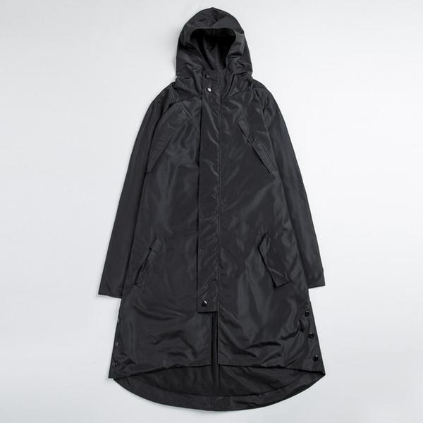 Wholesale- Plus Size High Quality Mens Black Trench Coats Male Hip Hop Irregular Windproof Waterproof Long Windbreaker Jackets 4XL 5XL