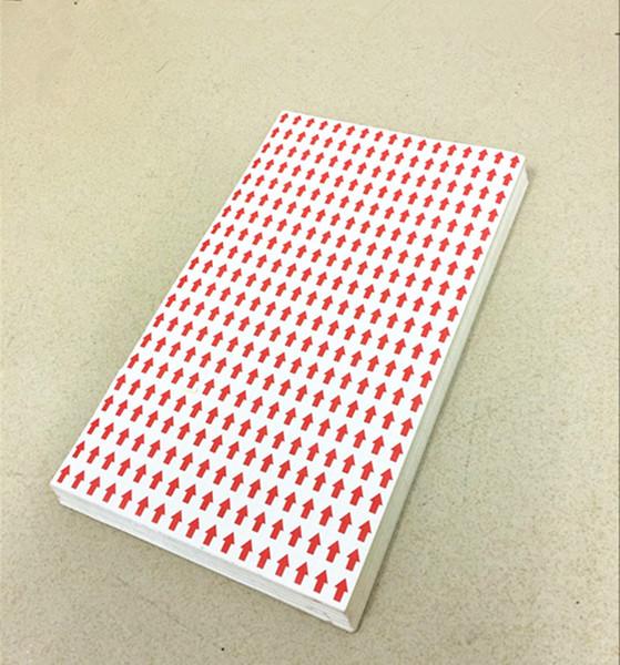 9 * 12mm 20400pcs / lot quare flèche rouge QC vérification étiquette papier autocollant