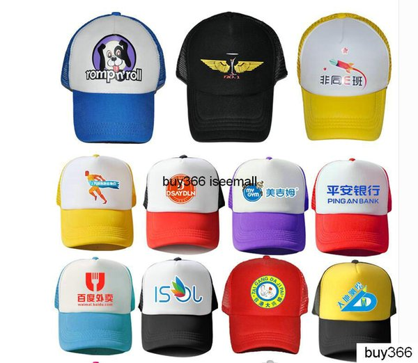 Custom Trucker Caps Advertising Mesh Cap Election Hats Leisure Sports Flat Fitty caps Customed LOGO Men womens Snapbacks print blank hats