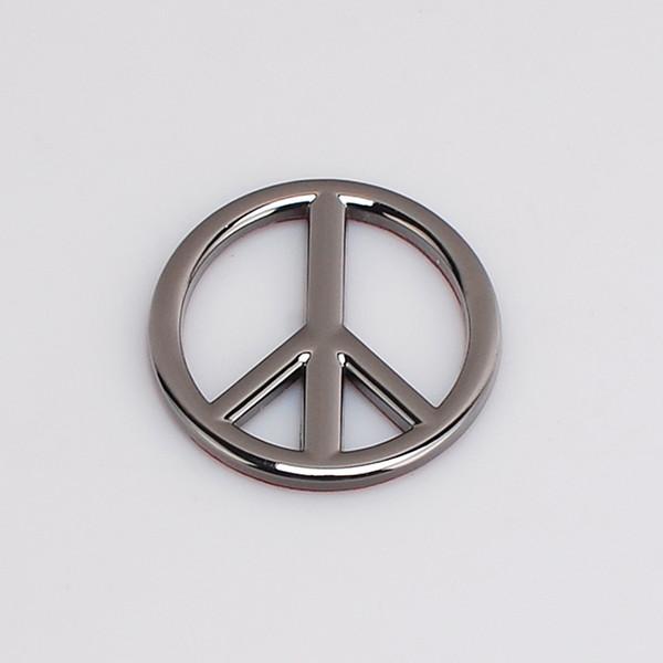 500pcs Black Silver Antiwar Peace Metal 3D Car Badge Emblem Sticker Auto Sticker Emblems Badges