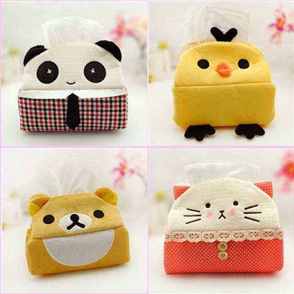 Wholesale- 1pcs Cute Panda Tissue Box Cloth Napkin Holder Seat Type Tissue Case for Home Decoration 1604 Free shipping