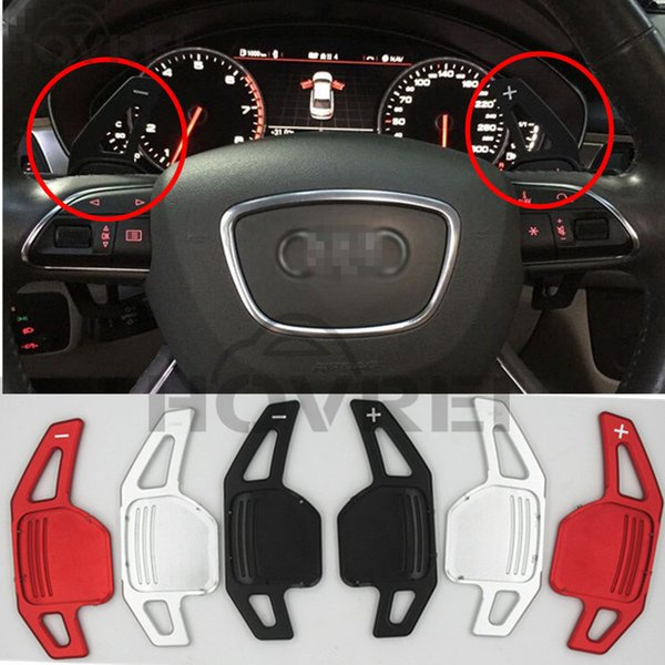 1 pair New Car Aluminum Steering Wheel Shift Paddle Shifter For Audi A3 A4L A5 Q3 Q5 TT S3 A6 3 colors