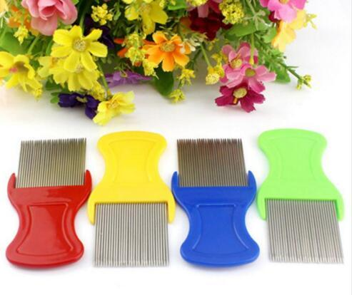 Pet Dog Cat Clean Comb Brush Dog Hair Grooming Tool Stainless Steel Long Needle Nit Lice Comb Pet Flea Comb Catching Lice 480pcs/lot