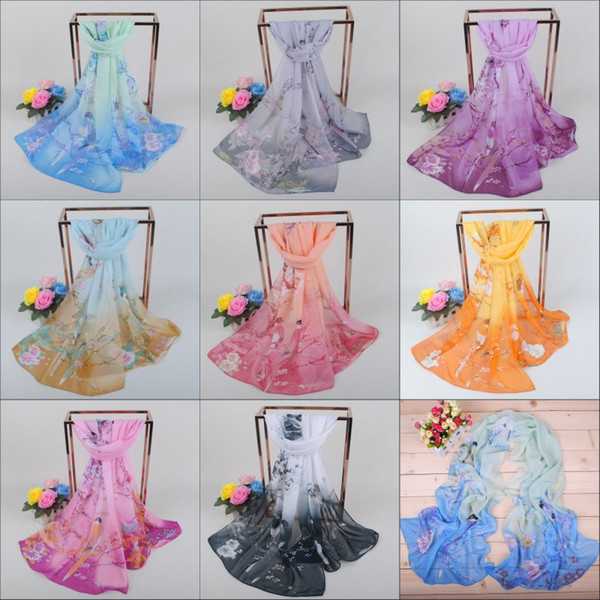 7 COLOURS Chinese Style Magpie Print Design Ladies Soft Scarf Art Fashion Sale