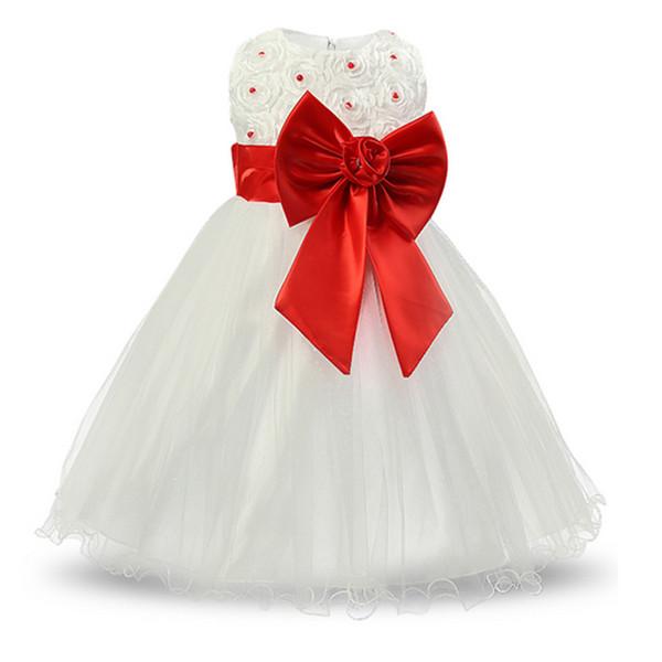 White Baptism baby princess infant dress wedding girl for girls clothes tutu dresses Summer 2017 birthday party kids girl dress