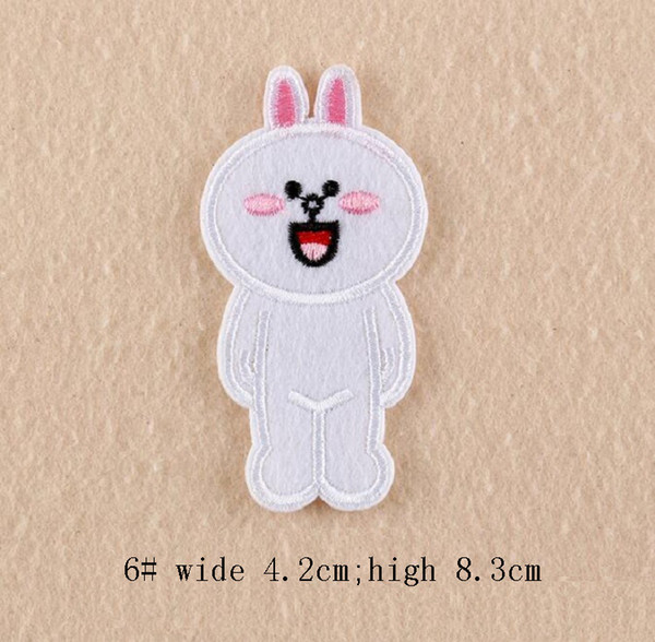 New Iron On Patches DIY Embroidered Patch sticker For Clothing clothes Fabric Sewing cartoon frog bear rabbit chick design