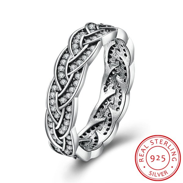 Crossed Wedding Bands.2019 Womens 925 Sterling Silver Line Crossed Cz Eternity Engagement Wedding Band Ring From Amoz 10 06 Dhgate Com