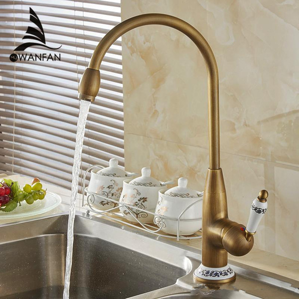 2019 New Style Antique Brass Finish Faucet Kitchen Sink Basin Faucets Mixer  Tap With Ceramic Hot And Cold COO4116F From Gobuyvogue, $97.49 | ...