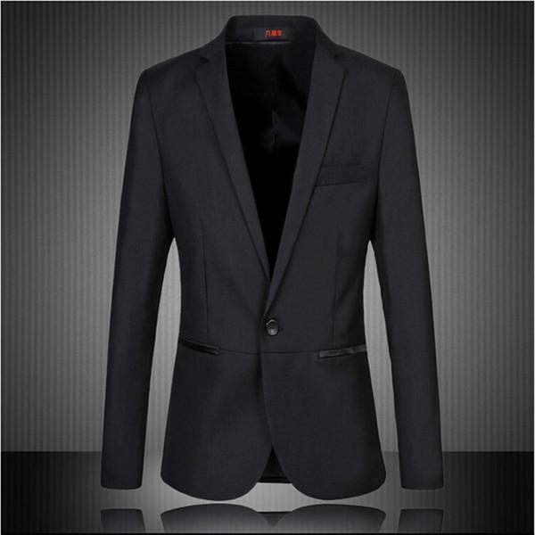 Großhandels- 2016 neue Mens koreanische Slim Fit Mode Baumwolle Blazer Anzug Jacke schwarz plus Größe M - 5XL männlichen Blazer Herren Mantel Hochzeitskleid