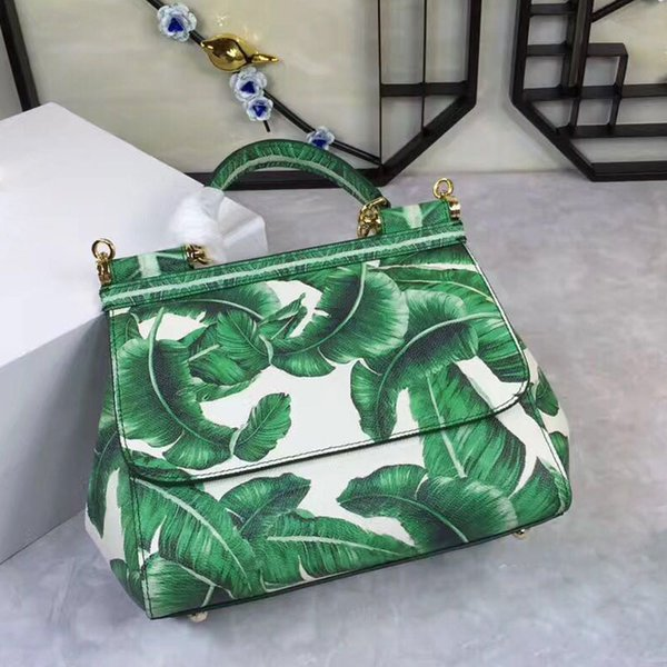 top popular Bag color printing Fashion Shoulder Hand Bag Leather Ladies really cross 2019