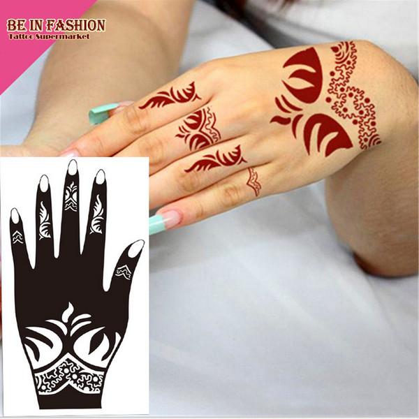 Wholesale-1pc Tattoo Airbrush Schablonen Körper Malerei Henna Schablone große Vorlage Indien Spitze Tattoos Schablonen für Hand Bein Arm Füße S101L