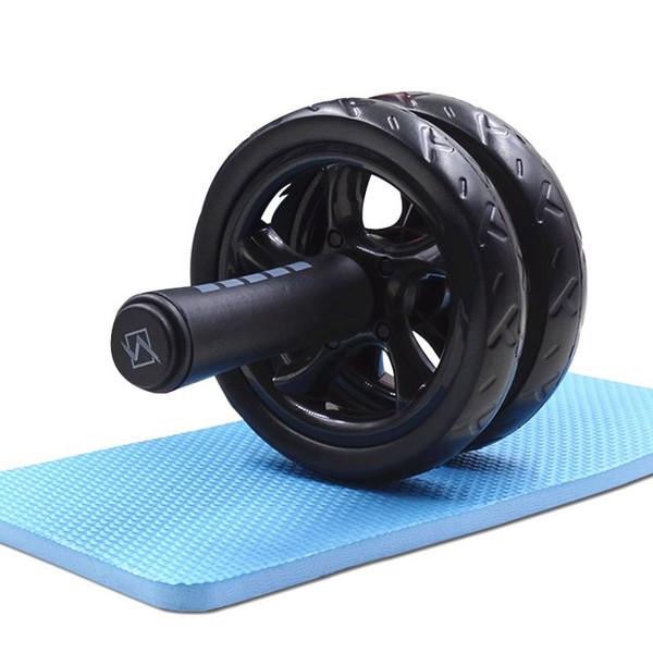 Roue abdominale Ab Rouleau avec tapis No Noise Muscle Double -Wheeled Ab Rouleau Workouts abdominale Fitness équipement d'exercice