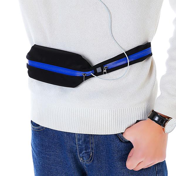 Outdoor Sports Slim Close-fitting Waist Bag Anti-theft Hidden Waist Wallet Travel Purses Cellphone Holder Running Belt Waterproof Fanny Pack