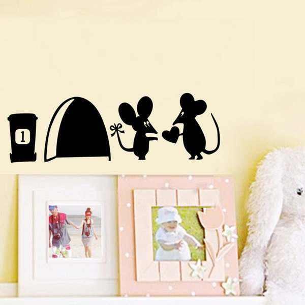 Funny Mouse Hole Wall Stickers Creative Rat Hole Cartoon Wall Stickers  Bedroom Living Room Mice Wall Part 69