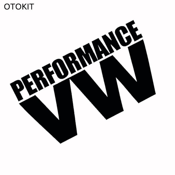 Reflective White & Black PERFORMANCE VW Glue Sticker for Volkswagen VW Model Car Windows Rear Windshield Door Decal Badge