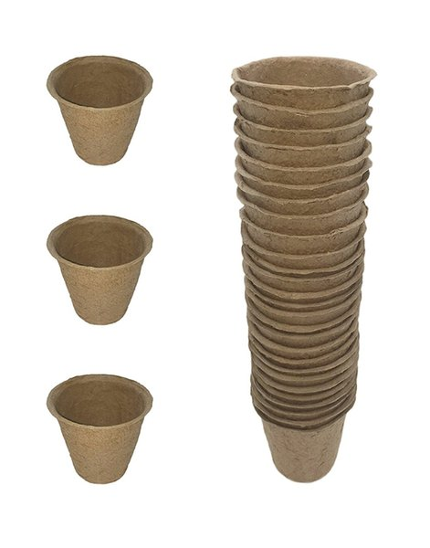 Pack of 30 Biodegradable Peat Pots Seed Planters, Seed Starting Pots