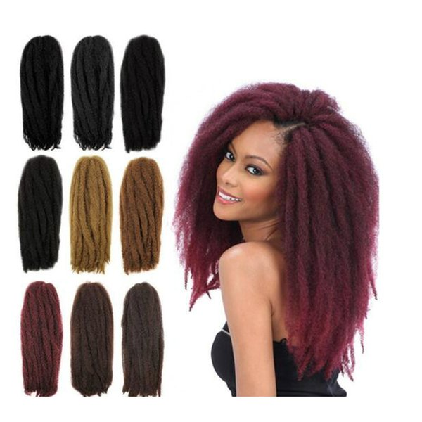 Wholesale Afro Kinky Long Crochet Braid Hair 18 Senegalese Twist