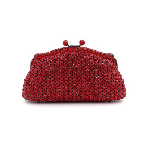 Ladies Handbag Red Beads Diamond Hallow Out Beaded Evening Bag Hand Bag Party Bride Cheongsam Ajustable Party BD079