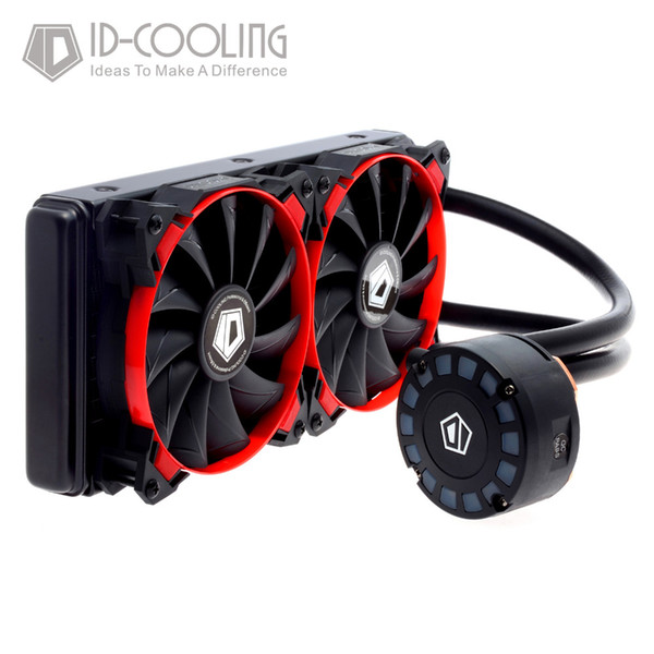 Wholesale- ID-COOLING FROSTFLOW 240L AIO Water Cooler with Unique Comet-tail LED Lighting,240mm Radiator,2*120mm PWM Fans,For Intel & AM4/3