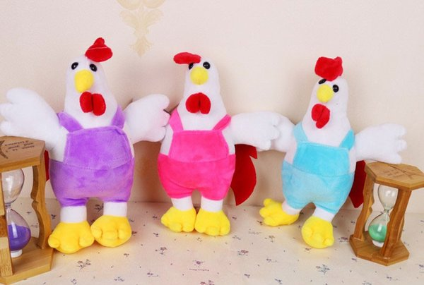 Kids Cute Stuffed Animal Plush Toy Cartoon Chicken Cock Rooster Soft Dolls Gift