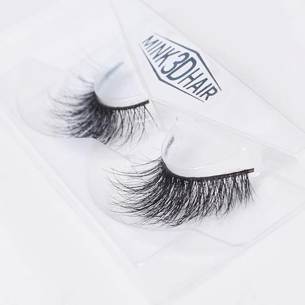 1 pair 3D Handmade Thick Mink Eyelashes Natural False Eyelashes for Beauty Makeup fake Eye Lashes Extension SA12 1-1.5cm