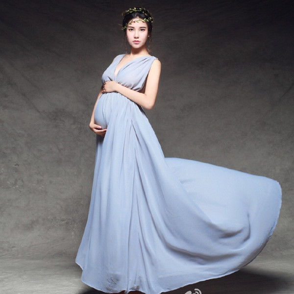 Free Size Elegant Maxi Stretch Maternity Wedding Dresses Lace ...
