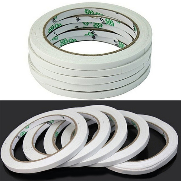 Wholesale- 2016 2 Rolls New Arrival 18M Hot Powerful Double Faced Adhesive Tape paper Double Sided Tape For Mounting Fixing Pad Sticky