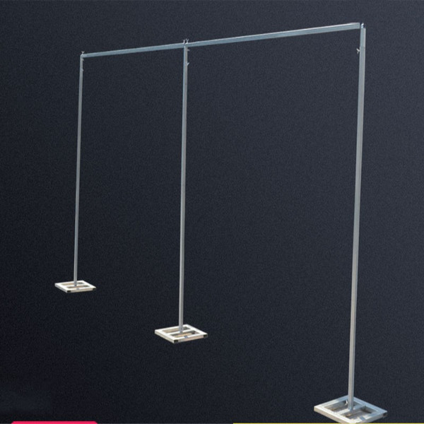 Free Shipping 4m high x 8m wide Wedding Stainless Steel Pipe Wedding Backdrop Stand with expandable Rods Backdrop Frames