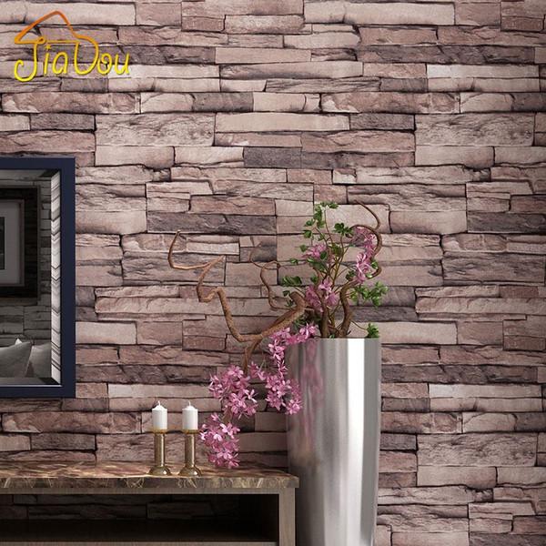 Китайский стиль 3D кирпич шаблон обои водонепроницаемый Wallcoverings ресторан магазин одежды гостиная ТВ фон обои