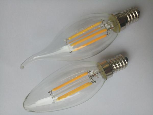 360 degree light emitting 4 watt LED filament bubble bulb