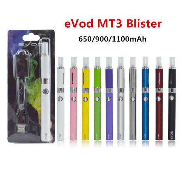 Electronic Cigarette eVod MT3 Blister Kit with 650/900/1100mAh eVod Battery 2.4ml MT3 Tank Atomizer eGo CE4 Starter Kits Vapor Pen